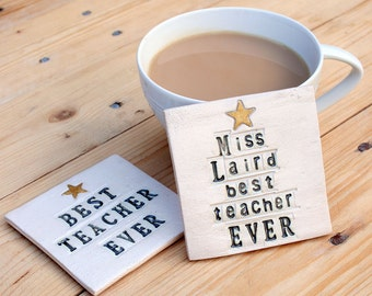 Teacher Ceramic Coaster