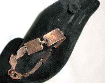Vintage Coyote Copper-Link Bracelet