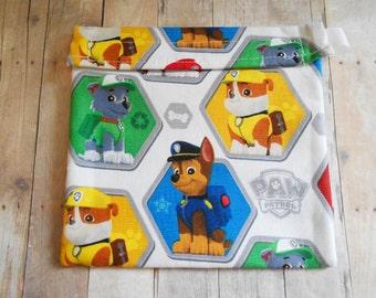 Paw Patrol Puppy Dog Marshall Chase Everest Zuma Reusable Sandwich bag