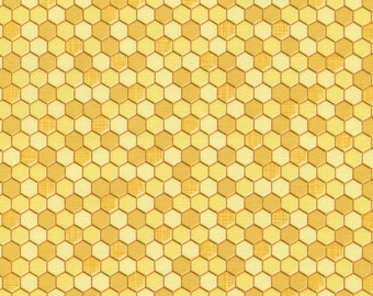 Timeless Treasures- Geometric Honeycombs C4108 in Yellow by the Yard