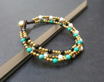 Chain Natural Stone Mixed  Bracelet
