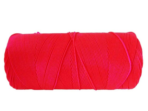 Neon Pink Macrame Cord, Linhasita Waxed Cord, Macrame plant hanger, Braided Friendship Bracelet, Best Macrame Cord - 16 YARDS - Neon Pink