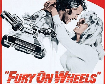 Vintage Original Movie Poster Fury on Wheels