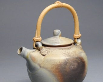 Wood Fired Teapot with Cane Handle E83