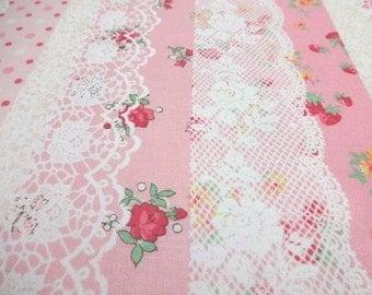 Japanese Fabric YUWA Stripe Lace Fat Quarter
