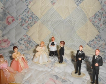 Miniature Vintage Wedding Party-Pre-Owned