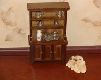 "DOLLHOUSE DRESSER or HUTCH for 1 "" scale.  Perfect for your home."