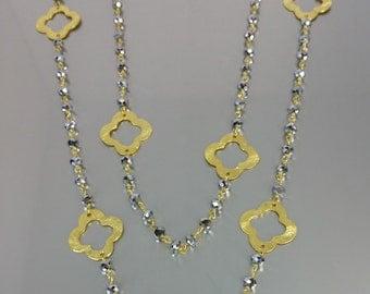 Pyrite Clover Necklace