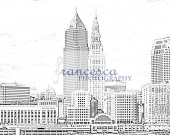 Cleveland Skyline Sketch