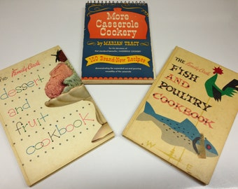 1950's Cookbook collection Family Circle and Casserole cookery