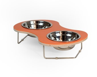 Amoeba, elevated pet bowl for Cats and small breed Dogs