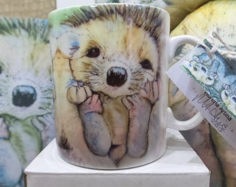 Fine Bone China Hedgehog Collectable Mug Morena Artina
