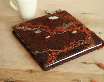 Felted journal Art journal Felt notebook Felted album Felt covered album Felt book cover Refillable journal Pixie album