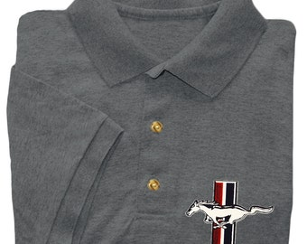 Ford Mustang shirt ford decal polo tee shirt for men