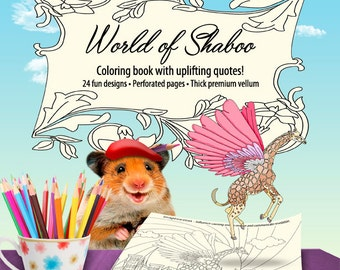 World of Shaboo Adult Coloring Book