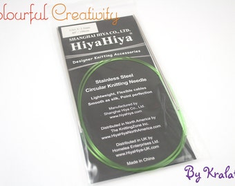100cm - Hiyahiya Steel circular knitting needles