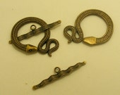 Modern and Classic Brass Tone Jewelry toggle 4 sets 4.99