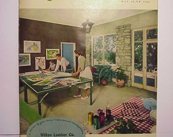 May-June 1960 Popular Home Magazine has 22 pages of ads and articles, home Improvement Magazine