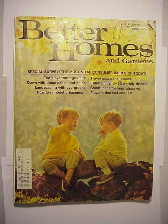 October 1967 Better Homes And Gardens By Vintagemagazinesinvt