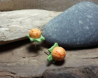Turtle earrings, all sales being donated, free shipping