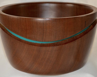 878 Art bowl, made from Sapele