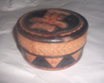 Vintage COLOMBIAN LEATHER COASTERS