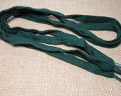 Vintage Shoe Laces, Green, 38 inch Long, Dark Green, 1980's, Never Used