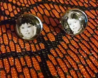 Wednesday and Pugsley Addams earrings