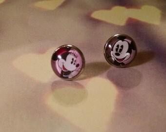 Minnie and Mickey earrings