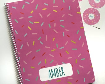 Sprinkles Personalized Notebook- Sprinkles Notebook - Sprinkles Journal