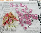ON SALE 5% OFF 25 pcs Acrylic Flowers Shaped-  Size 11 mm - Pink Color -  Diy Hair Bow/Headband/Hair Accessories Supplies