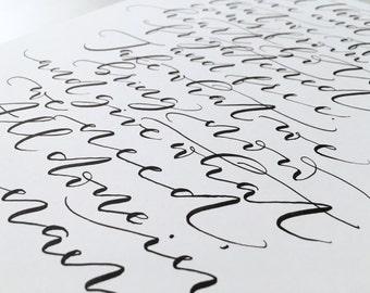 Custom Print, Custom Calligraphy, Custom Bible Verse, Custom Quote Print, Calligraphy Quote, Custom Handwriting, Wedding Gift, Custom Gift
