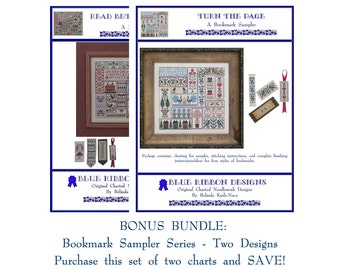 Blue Ribbon Designs - Bookmark Samplers - Bundle (2 Charts) - Cross Stitch Charts