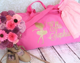 Personalized  Ballet Bag - Custom Dance Bag in hot pink Perfect for you little dancer or ballerina look great at dance competions