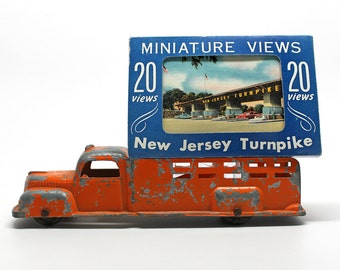 Vintage Souvenir Travel Box of New Jersey Turnpike*Set of 20 Small Vintage Linen Postcards*Tichnor Postcards
