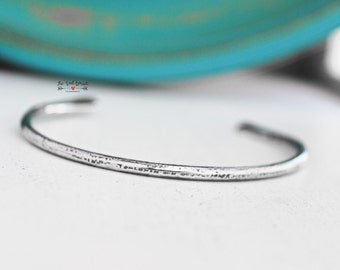 Sterling Silver Minimalist Cuff Bracelet   Hammered Silver   .925 Sterling Jewelry   Silver Jewelry   Silver Bangles   Silver Cuff