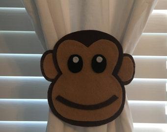 Monkey Curtain Tie-backs (Set of 2)