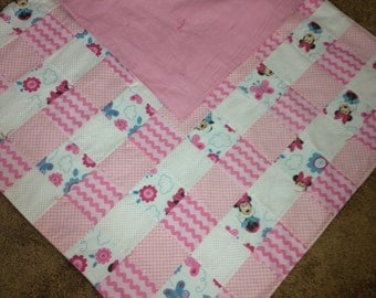 Minnie Mouse Flannel Baby Quilt