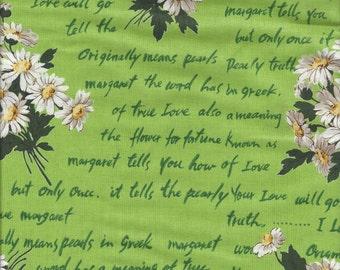 Margaret Daisy Bouquet in Green by Suzuko Koseki for  Yuwa of Japan