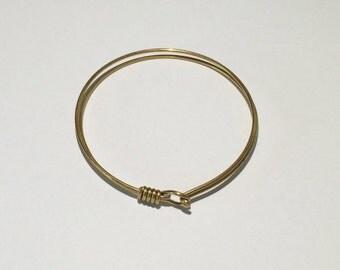 1 Brass Bracelet, Wire Bracelet, Bangle