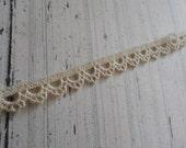 """1 Yard Dainty Ivory Cotton Scalloped Lace Trim 5/8"""""""