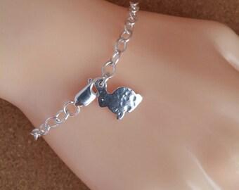 Bunny Dainty Bracelet Rabbit Dainty Bracelet Silver Rabbit Jewellery Bunny Charm Bracelet Rabbit Charm Bracelet