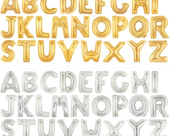 """34"""" Gold FOIL Balloon - Letter Balloons - Party Supply"""