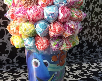 Finding Dory - Dum Dum, Blow Pop or Mini Tootsie Lollipop Bouquet / Centerpiece