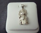 Sterling Silver Lucky Cat Pendant P147