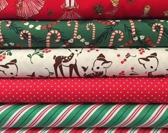Fat Quarter Bundle - Michael Miller Christmas - Hostess Girl - Deer Fabric