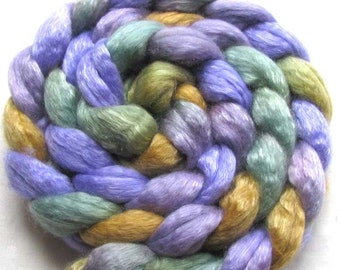 Hand Painted Merino/Tencel Roving (Combed Top) 4 oz.