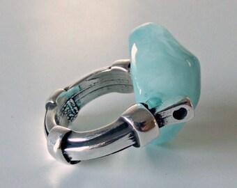 resin ring, color resin ring, silver ring, colorful ring, gift for her, sterling silver ring, silver jewelry, statement ring, handmade ring