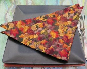 Cotton napkins ''petites leaves''