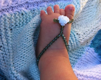 baby barefoot sandals, baptism gift, baby girl, photo prop, flower girl, baby shoes, newborn, baby shower gift, new mom, baby jewelry